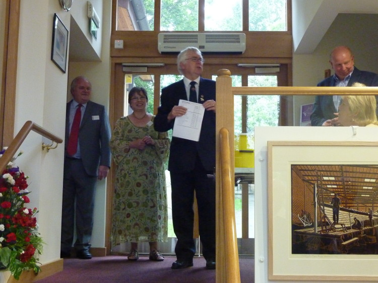 Colchester MP Sir Bob Russell opening the First Lexden Arts Festival in 2012