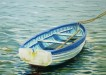 Dinghy with oars - Sally Pudney