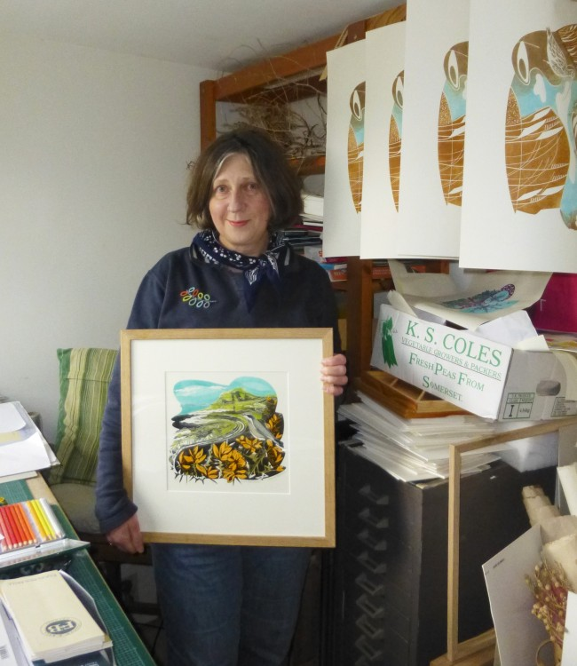 Penny Bhadresa in her studio at East Bergholt
