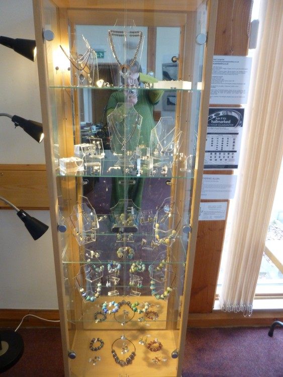 Michael Carpenter and Catherine Allen's work in the jewellery cabinet