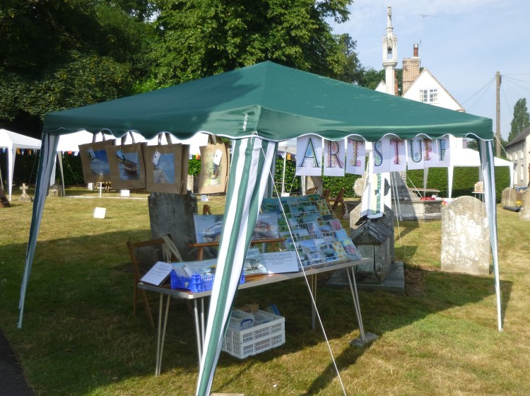My little Art Stuff stall at the Fete