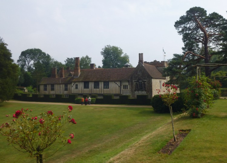 The house viewed from the garden
