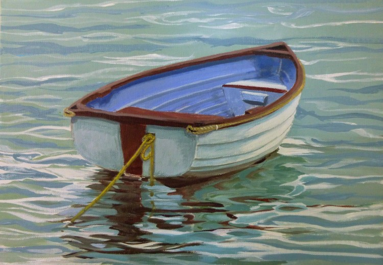 Dinghy on the Yellow Rope