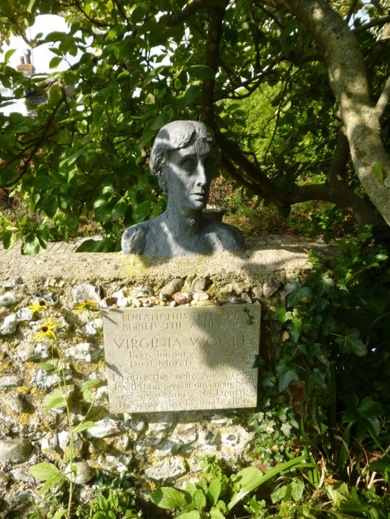 Virginia Woolf modelled by Stephen Tomlin, in the Monks House garden