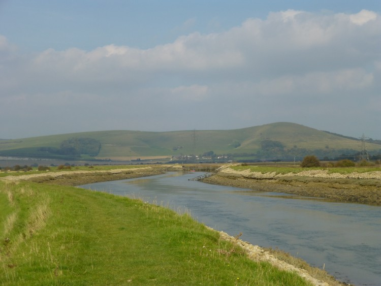 The river Ouse and Mount Caburn