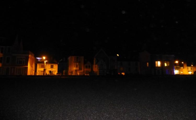 Aldeburgh after dark from the beach