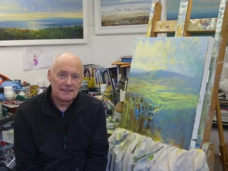 Jonathan in his studio