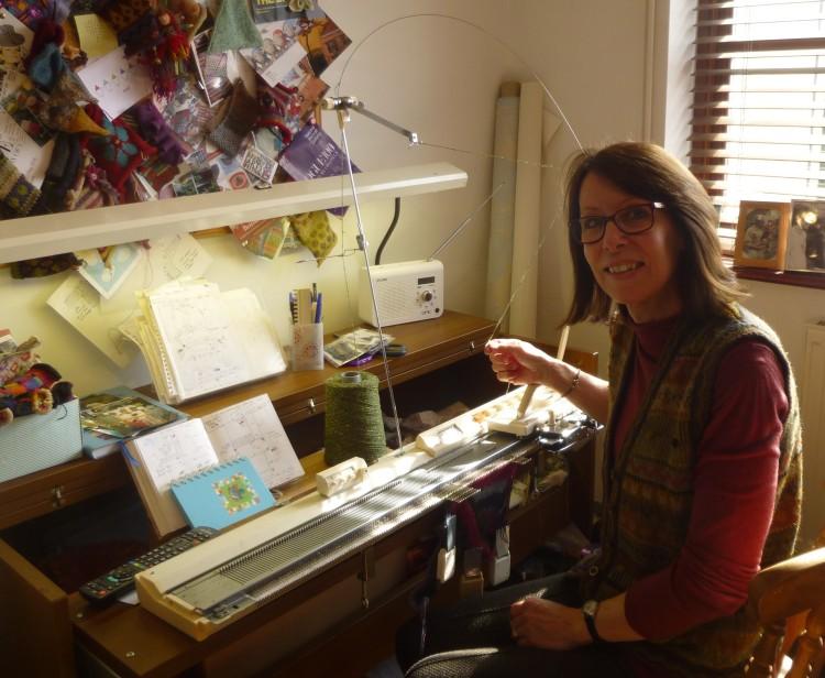 Caroline Sullivan in her studio