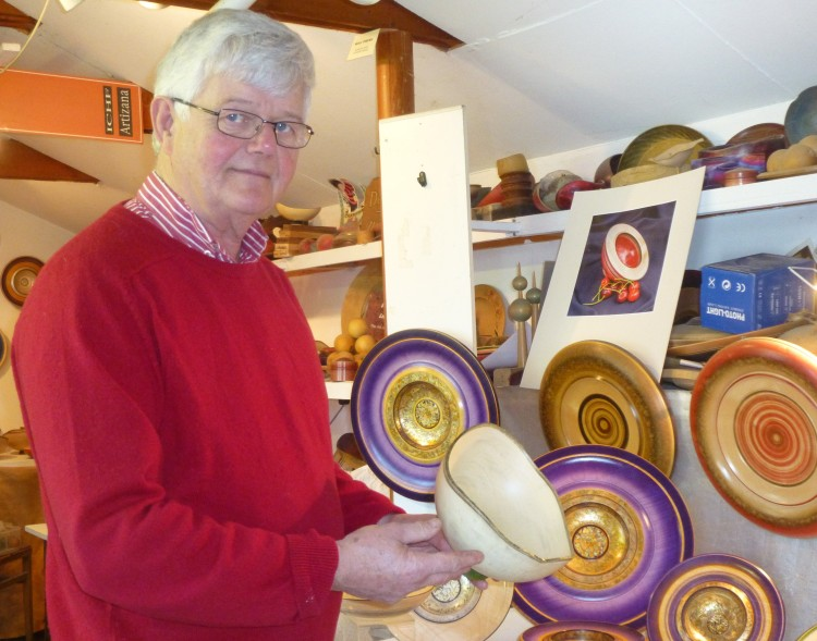 Dennis Hales in his 'display' studio, where he stores finished work