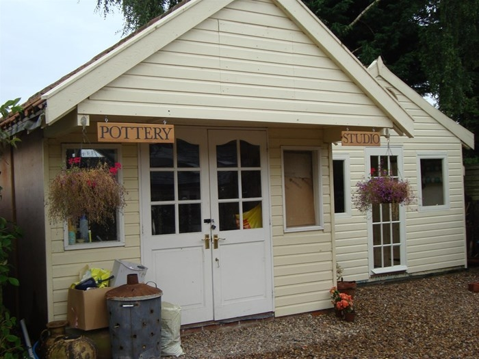 Rob Wheeler's pottery studio in Walsham le Willows