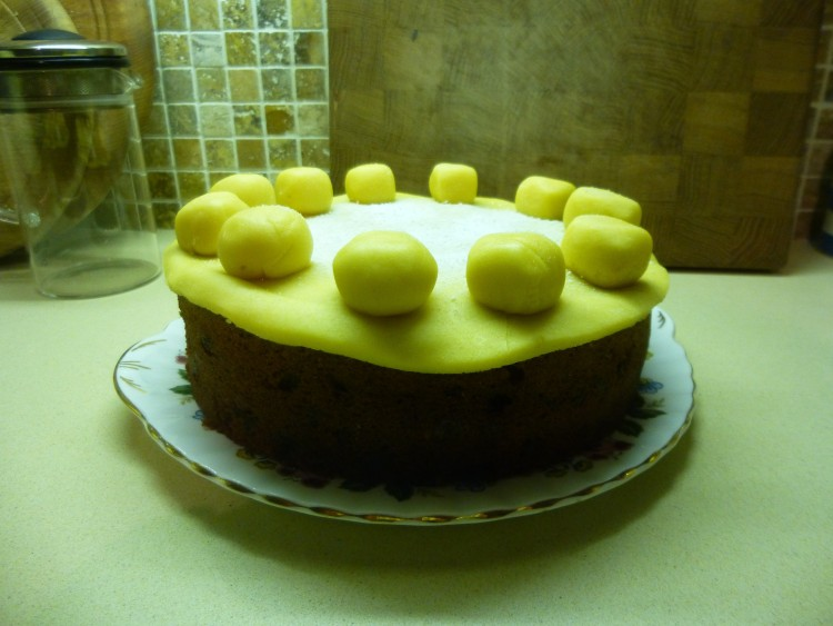 Well, this is how the Simnel Cake turned out!