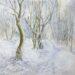 Footpath through the snowy woods - Sally Pudney
