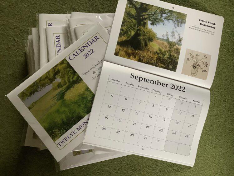 Twelve Months in an Essex Field 2022 Calendar