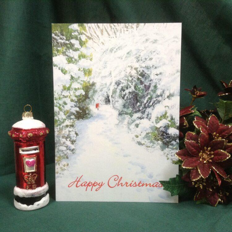 'Walking to the Post' Christmas cards