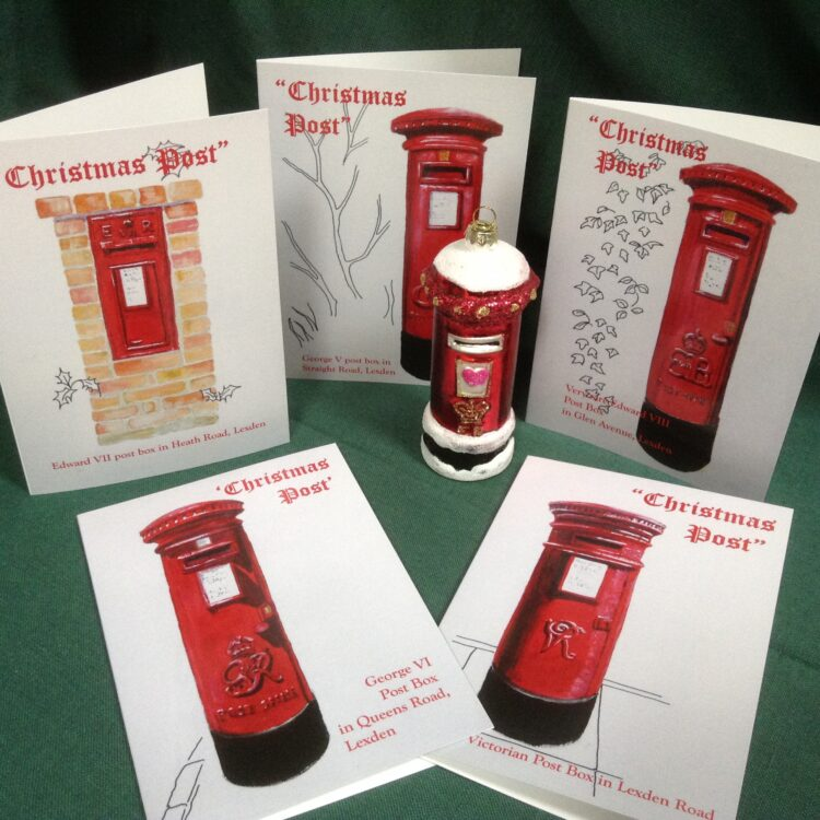 Historic Post Boxes Christmas Card Pack