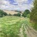 Field Path at West Bergholt - Sally Pudney
