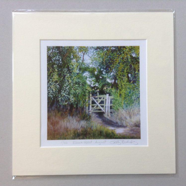'Essex Wood: August' limited edition mini-print