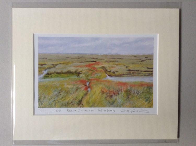 'Essex Saltmarsh (Tollesbury)' limited edition mini-print