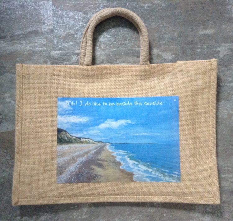 Large Seaside Jute Bag – Dunwich/ Oh! I do like . .