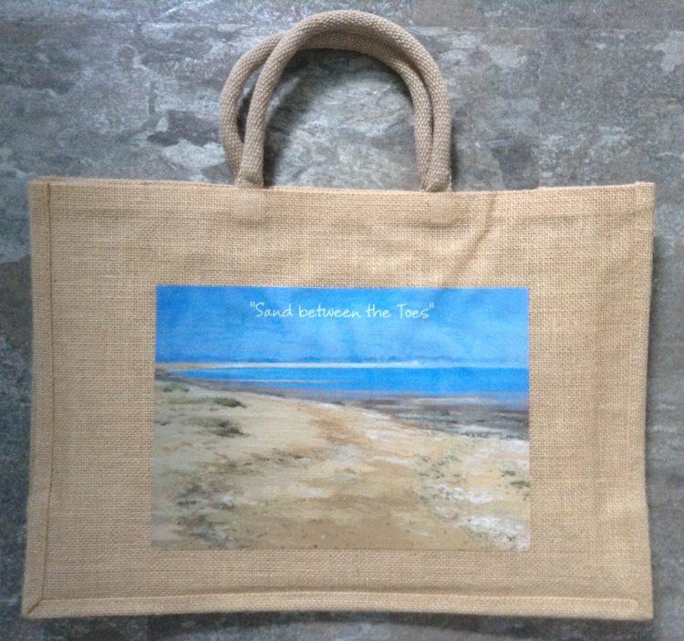 Large Seaside Jute Bag – Walton/Sand between the toes
