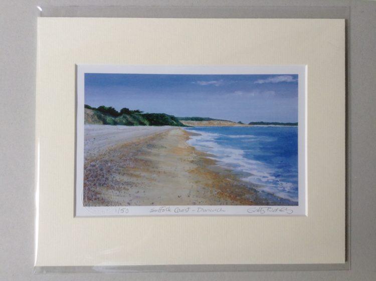 'Suffolk Coast (Dunwich)' limited edition mini-print