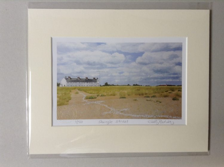 'Shingle Street on the Summer Solstice' limited edition mini-print