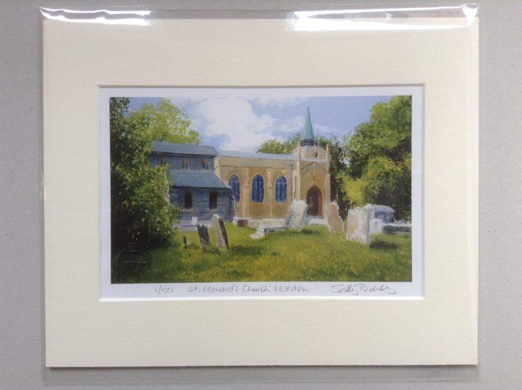 'St Leonard's Church, Lexden' limited edition mini-print