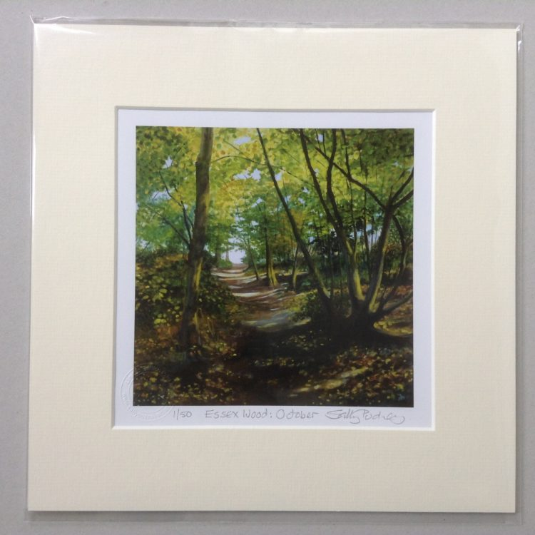 'Essex Wood: October' limited edition mini-print