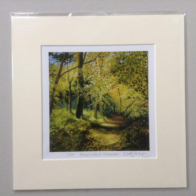 'Essex Wood: November' limited edition mini-print